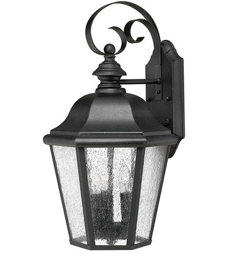 Hinkley 1676BK Edgewater 3 Light 18 inch Black Outdoor Mini Wall Mount in Incandescent photo