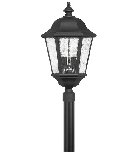 Hinkley 1677BK Edgewater 4 Light 27 inch Black Post Lantern in Seedy, Post Sold Separately photo