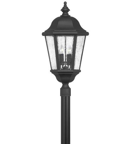 Hinkley Lighting Edgewater 4 Light Post Lantern (Post Sold Separately) in Black 1677BK