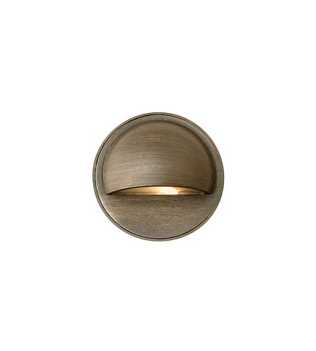 Hinkley Lighting Hardy Island Round Eyebrow 1 Light LED Deck in Matte Bronze 16801MZ-LED photo