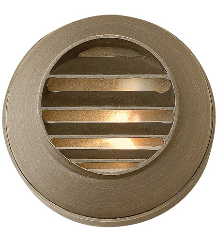 Hinkley 16804MZ Hardy Island 12V 20 watt Matte Bronze Landscape Deck in Incandescent, Round Louvered photo