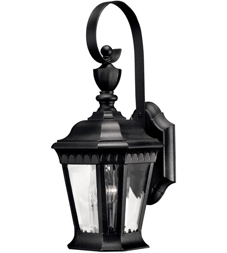 Hinkley Lighting Camelot 1 Light Outdoor Wall Lantern in Black 1700BK