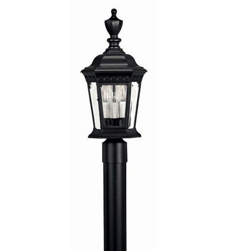 Hinkley Lighting Camelot 3 Light Post Lantern (Post Sold Separately) in Black 1701BK photo