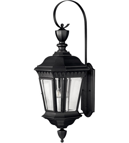 Hinkley Lighting Camelot 3 Light Outdoor Wall Lantern in Black 1705BK photo