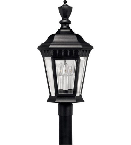 Hinkley Lighting Camelot 3 Light Post Lantern (Post Sold Separately) in Black 1707BK
