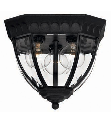 Hinkley Camelot Flush 3Lt Outdoor in Black 1710BK photo