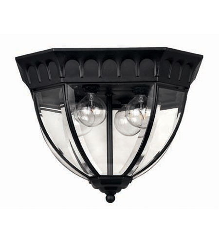 Hinkley Lighting Camelot 3 Light Outdoor Flush Lantern in Black 1712BK photo