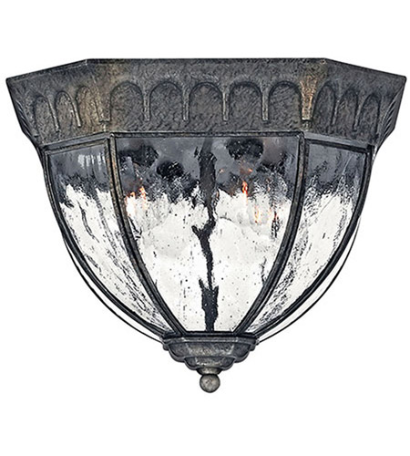 Hinkley 1713BG Regal 4 Light 12 inch Black Granite Outdoor Flush Mount photo