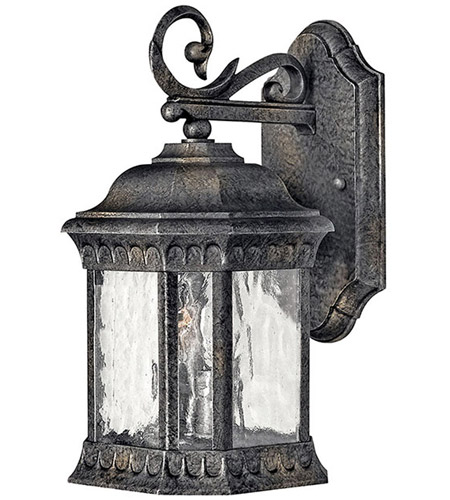 Hinkley Lighting Regal 2 Light Outdoor Wall Lantern in Black Granite 1720BG