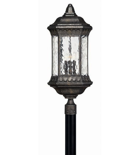 Hinkley Lighting Regal 4 Light Post Lantern (Post Sold Separately) in Black Granite 1727BG