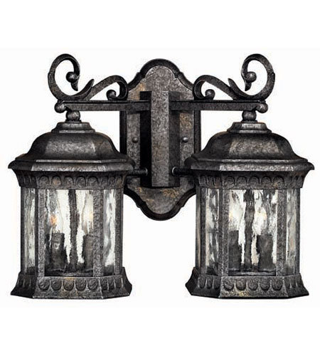 Hinkley Lighting Regal 4 Light Outdoor Wall Lantern in Black Granite 1729BG photo