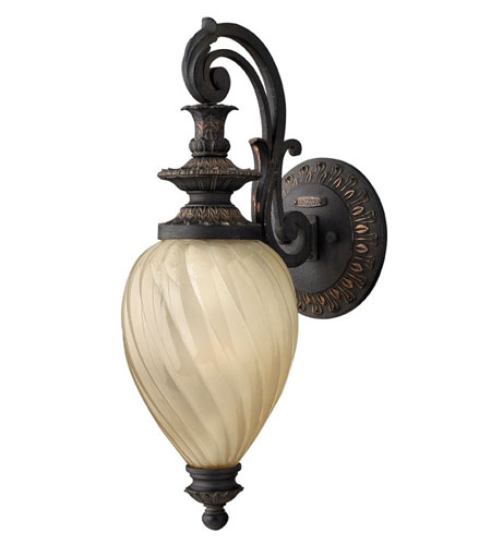 Hinkley Lighting Montreal 1 Light Outdoor Wall Lantern in Aged Iron 1730AI