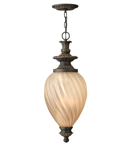 Hinkley Lighting Montreal 3 Light Outdoor Hanging Lantern in Aged Iron 1732AI-ES photo