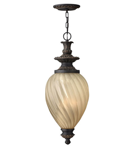 Hinkley Lighting Montreal 3 Light Outdoor Hanging Lantern in Aged Iron 1732AI