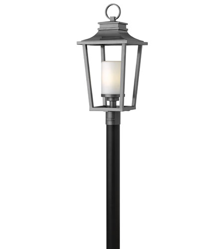 Hinkley Lighting Sullivan 1 Light GU24 CFL Post Lantern (Post Sold Separately) in Hematite 1741HE-GU24