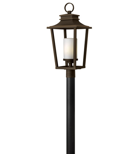 Hinkley 1741OZ-LED Sullivan LED 26 inch Oil Rubbed Bronze Outdoor Post Mount, Etched Opal Glass photo