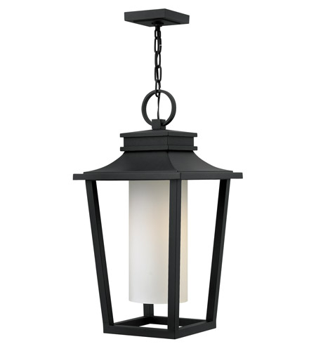 Hinkley 1742BK-LED Sullivan LED 12 inch Black Outdoor Hanging Lantern, Etched Opal Glass photo