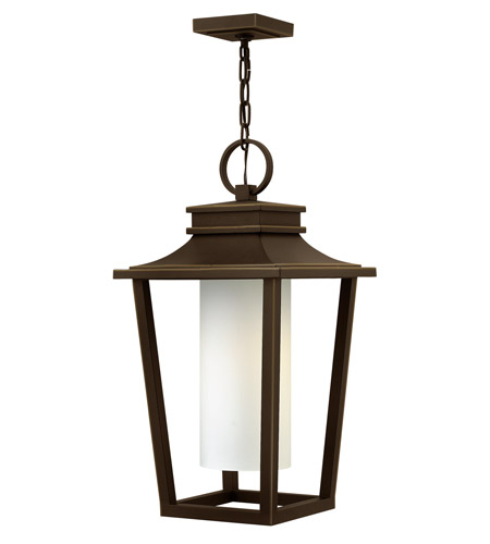 Hinkley 1742OZ-LED Sullivan LED 12 inch Oil Rubbed Bronze Outdoor Hanging Lantern, Etched Opal Glass photo
