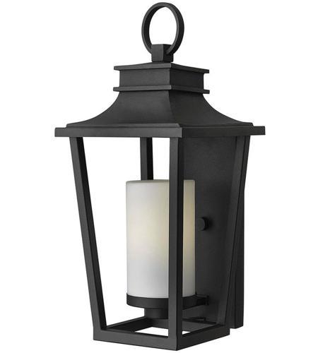 Hinkley Lighting Sullivan 1 Light Standard Outdoor Wall Lantern in Black 1744BK