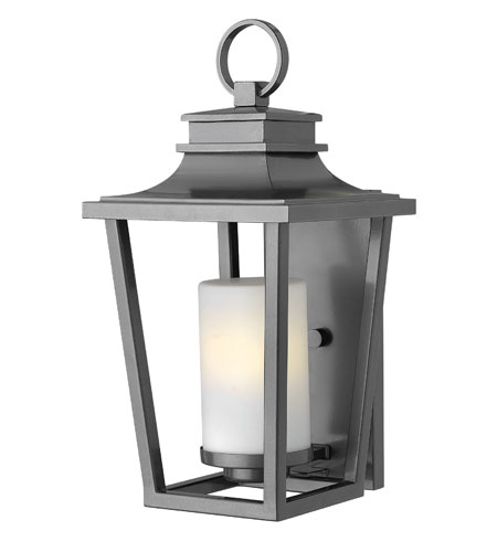 Hinkley Lighting Sullivan 1 Light Energy Star Outdoor Wall Lantern in Hematite 1744HE-ES