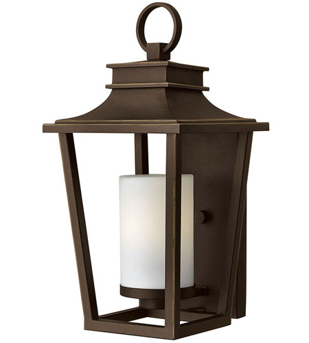 Hinkley 1744OZ Sullivan 1 Light 18 inch Oil Rubbed Bronze Outdoor Wall Mount in Incandescent, Etched Opal Glass photo