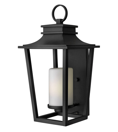 Hinkley Lighting Sullivan 1 Light GU24 CFL Outdoor Wall in Black 1745BK-GU24
