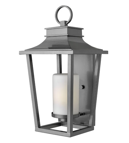 Hinkley Lighting Sullivan 1 Light Energy Star Outdoor Wall Lantern in Hematite 1745HE-ES photo