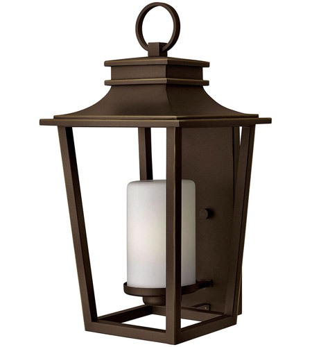 Hinkley 1745OZ Sullivan 1 Light 23 inch Oil Rubbed Bronze Outdoor Wall Mount in Incandescent, Etched Opal Glass photo