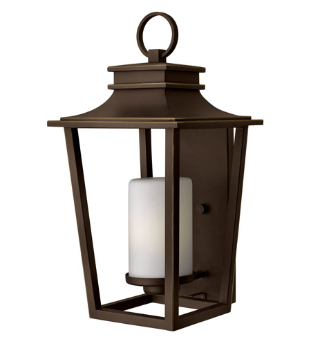 Hinkley 1745OZ-GU24 Sullivan 1 Light 23 inch Oil Rubbed Bronze Outdoor Wall Lantern in GU24, Etched Opal Glass photo