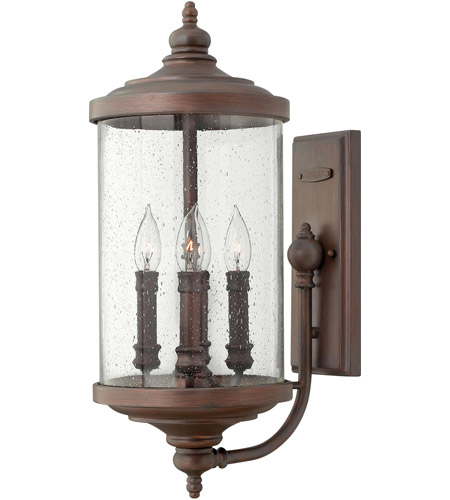 Hinkley Lighting Barrington 4 Light Outdoor Wall Mount in Victorian Bronze 1754VZ