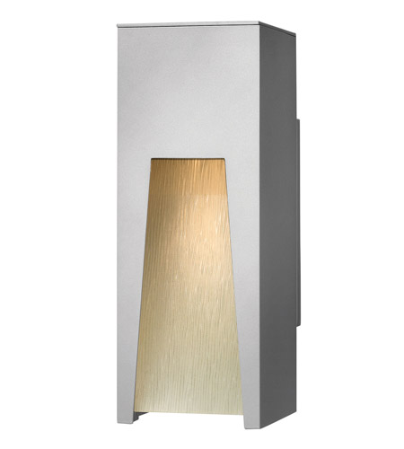 Hinkley Lighting Kube 1 Light Outdoor Wall Lantern in Titanium 1760TT