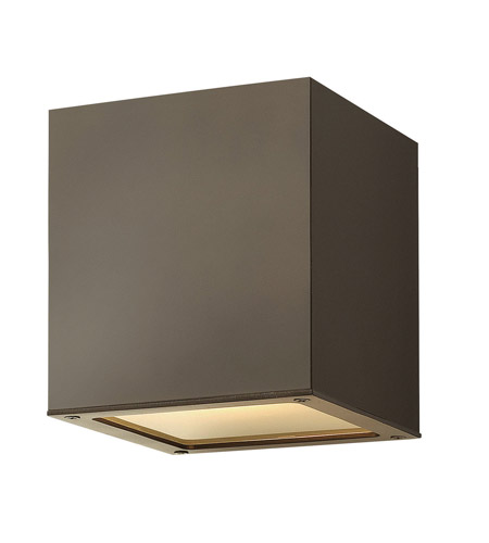 Hinkley 1763BZ-GU24 Kube 1 Light 6 inch Bronze Outdoor Ceiling in GU24 photo