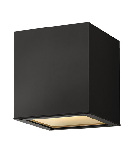 Hinkley Lighting Kube 1 Light Outdoor Ceiling Lantern in Satin Black 1763SK
