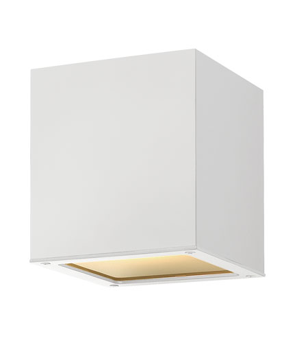 Hinkley Lighting Kube 1 Light GU24 CFL Outdoor Ceiling in Satin White 1763SW-GU24