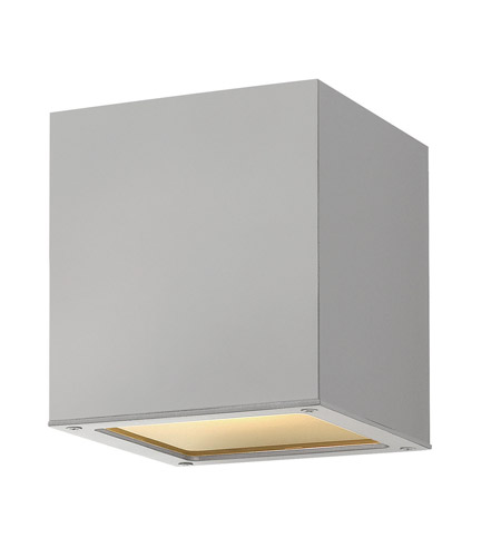 Hinkley 1763TT-GU24 Kube 1 Light 6 inch Titanium Outdoor Ceiling in GU24 photo