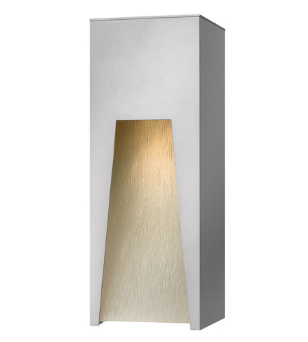 Hinkley Lighting Kube 1 Light Outdoor Wall Lantern in Titanium 1764TT