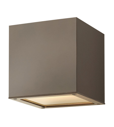Hinkley Lighting Kube 1 Light GU24 CFL Outdoor Wall in Bronze 1766BZ-GU24