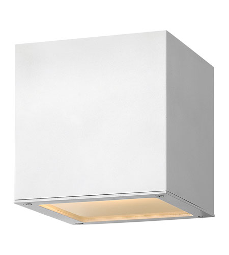 Hinkley Lighting Kube 1 Light GU24 CFL Outdoor Wall in Satin White 1766SW-GU24