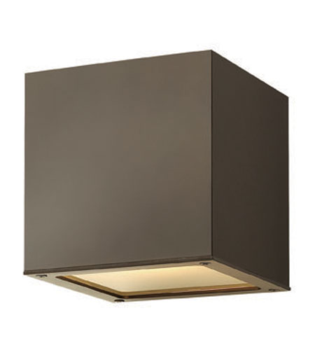 Hinkley Lighting Kube 1 Light Outdoor Wall Lantern in Bronze 1767BZ-ES