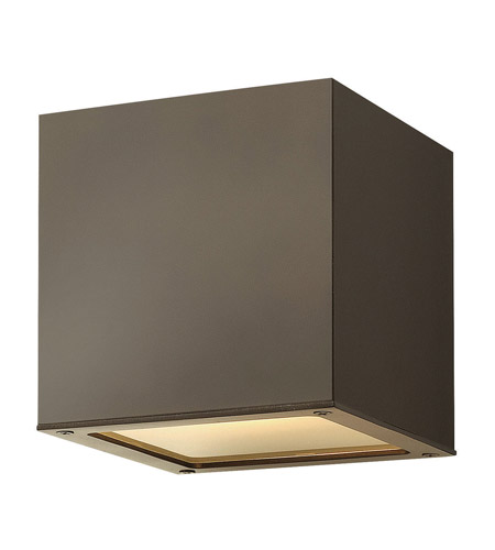 Hinkley Lighting Kube 1 Light GU24 CFL Outdoor Wall in Bronze 1767BZ-GU24 photo