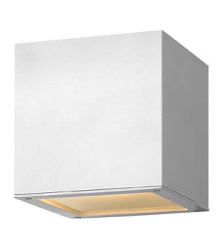 Hinkley Lighting Kube 1 Light Outdoor Wall Lantern in Satin White 1767SW