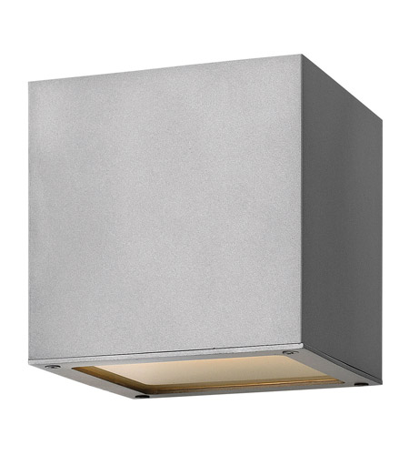 Hinkley 1767TT-GU24 Kube 1 Light 6 inch Titanium Outdoor Wall in GU24 photo