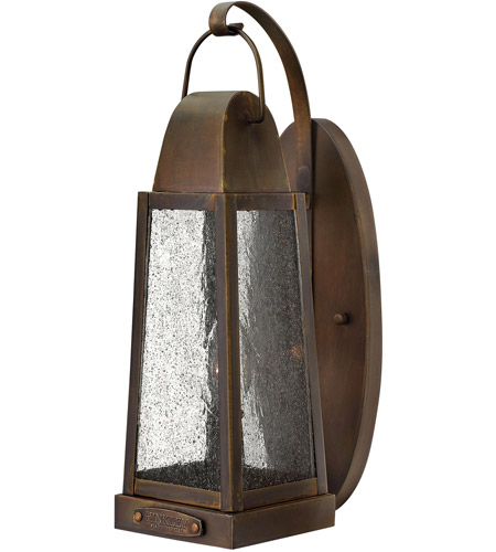 Hinkley 1770SN Sedgwick 1 Light 15 inch Sienna Outdoor Wall Mount, Clear Seedy Glass photo