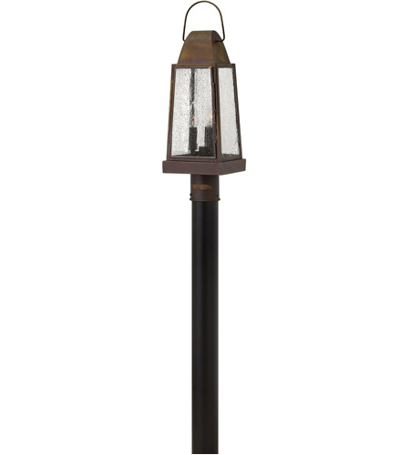 Hinkley Lighting Sedgwick 3 Light Post Lantern (Post Sold Separately) in Sienna 1771SN