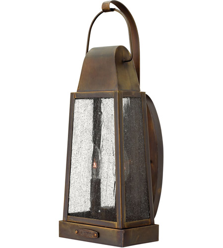 Hinkley 1774SN Sedgwick 2 Light 20 inch Sienna Outdoor Wall Lantern, Clear Seedy Glass photo