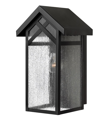 Hinkley Lighting Holbrook 1 Light GU24 CFL Outdoor Wall in Black 1790BK-GU24