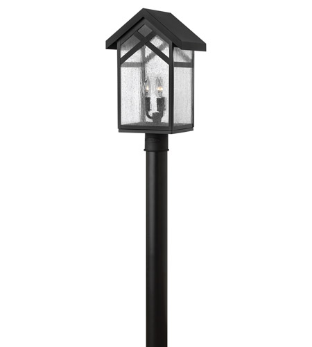 Hinkley Lighting Holbrook 3 Light Post Lantern (Post Sold Separately) in Black 1791BK