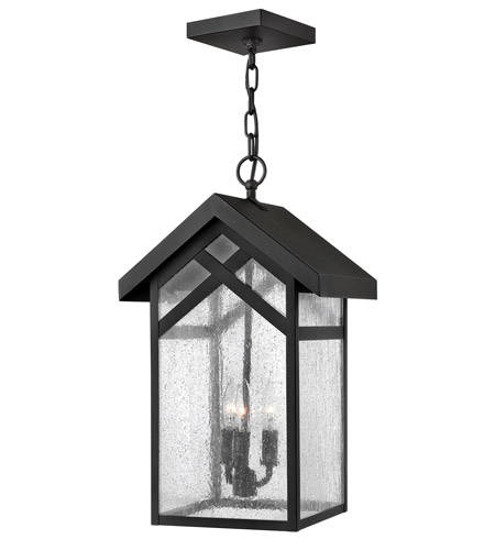 Hinkley Lighting Holbrook 1 Light GU24 CFL Outdoor Hanging in Black 1792BK-GU24