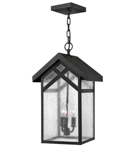 Hinkley Lighting Holbrook 1 Light GU24 CFL Outdoor Hanging in Black 1792BK-GU24 photo