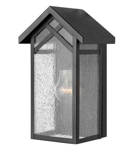 Hinkley Lighting Holbrook 1 Light GU24 CFL Outdoor Wall in Black 1797BK-GU24